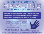 Holiday Healing Flyer - December 2007